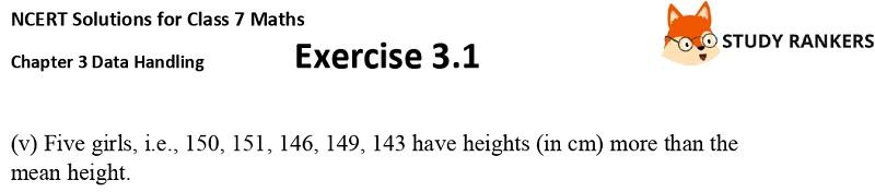 NCERT Solutions for Class 7 Maths Ch 3 Data Handling Exercise 3.1 5
