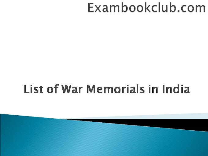 Complete List of War Memorials in India