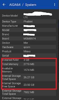 Cara cek memori dan RAM Oppo