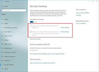 Pengaturan Remote Desktop Windows 10