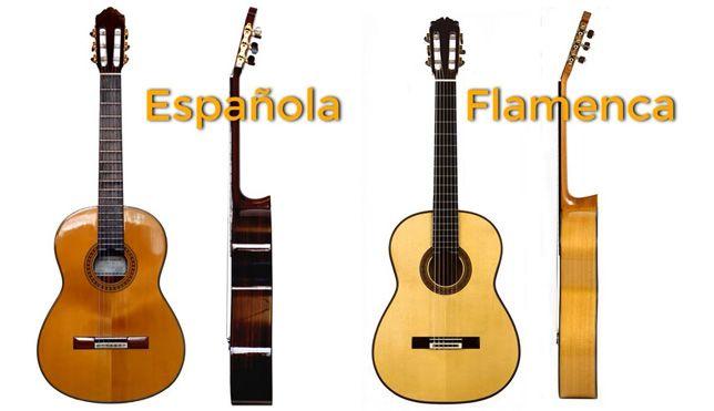 Diferencias entre Guitarra Clásica y Flamenca