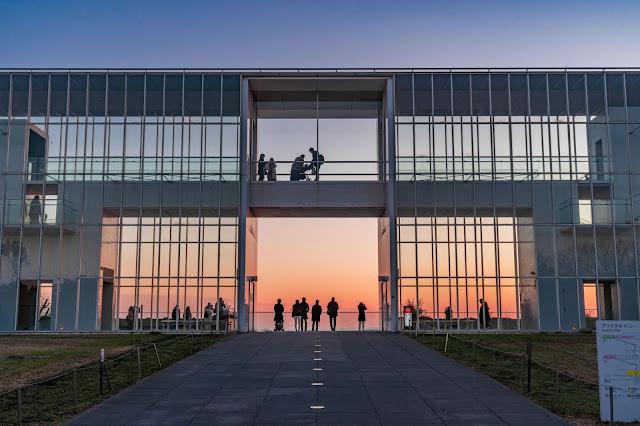 夕陽,夕焼け,東京,葛西臨海公園,ノスタルジック