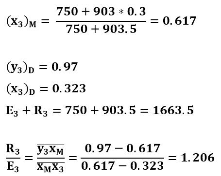 Cálculos de la tercera etapa del ejemplo 2