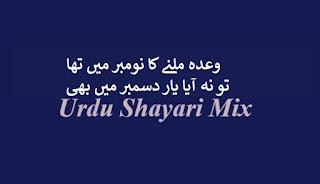 وعدہ ملنے کا نومبر   Bewafa shayari   Bewafa poetry