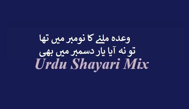 وعدہ ملنے کا نومبر | Bewafa shayari | Bewafa poetry