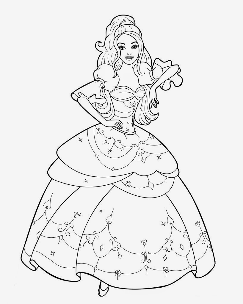 Desenhos Para Colorir E Imprimir Da Barbie