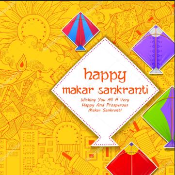 makar sankranti image with massage