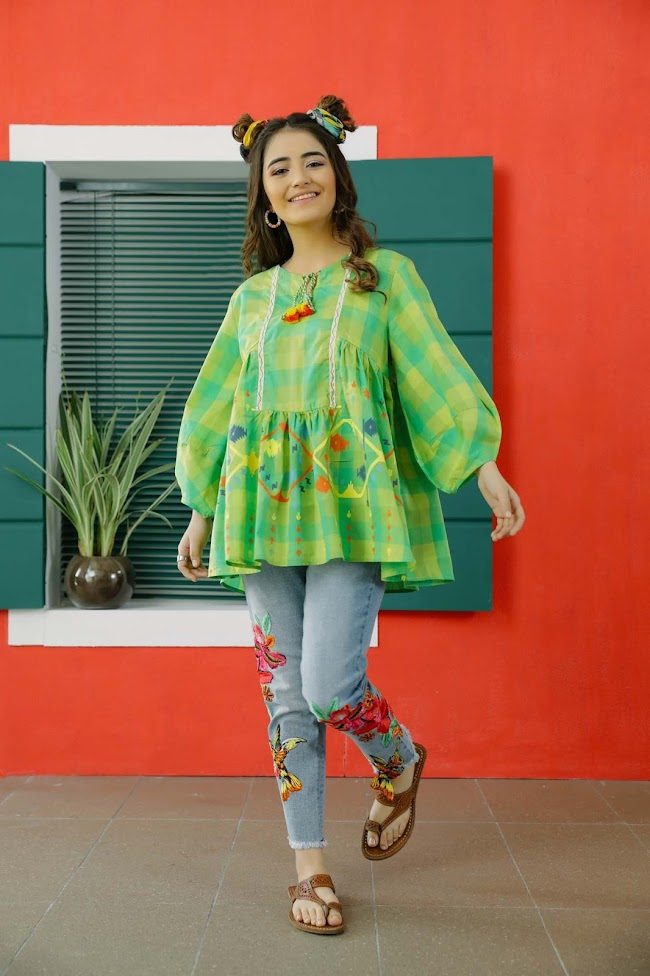Ethnic Parrot Yarn Dyed Shirt