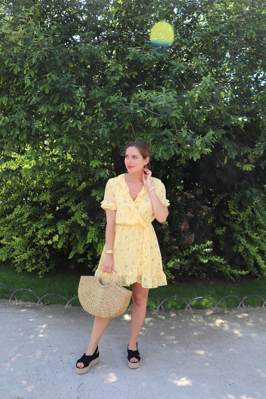 robe jaune fleurie h&m 5