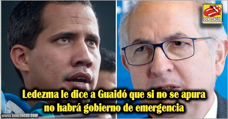 Ledezma le dice a Guaidó que si no se apura no habrá gobierno de emergencia