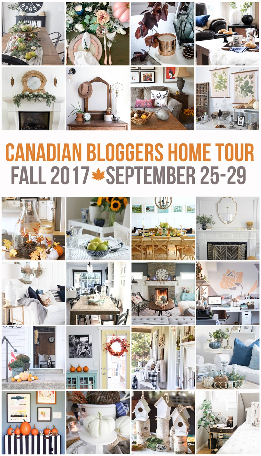 canadian bloggers home tour fall 2017
