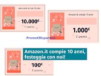 """Concorso """" 10 anni di Amazon"""" : estratti i 111 codici vincenti ( da 5000 euro, da 1000 euro e da 100 euro)! Scopri se hai vinto"""