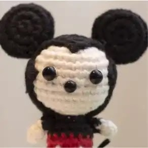 Mickey Mouse a Crochet
