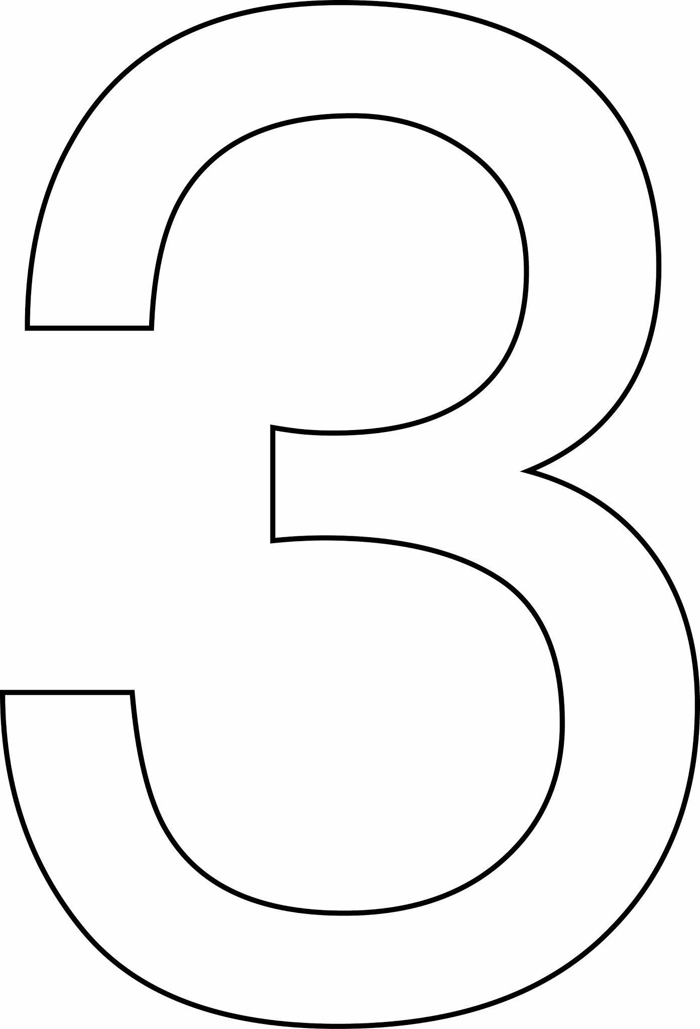 Número 3 (três) para imprimir