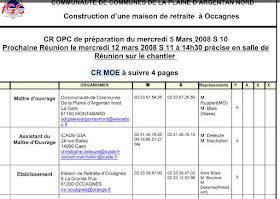 Exemple compte rendu réunion de chantier - CR MOE   Cours génie civil - Outils, livres ...