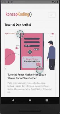 Tutorial React Native : Advanced Webview Dengan Loader