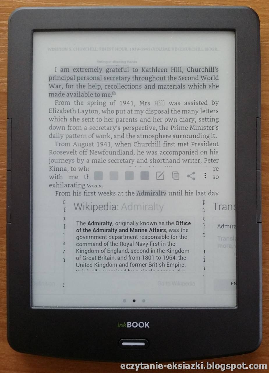 Aplikacja Kindle na InkBOOK Classic 2 - Wikipedia