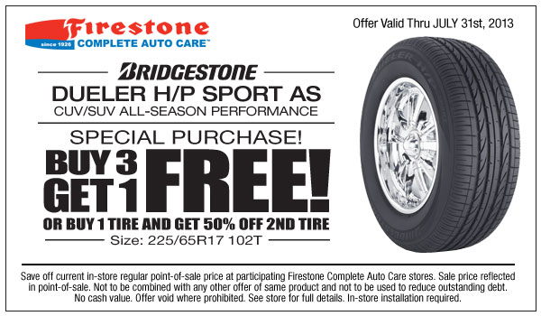 buy 3 tires get one free