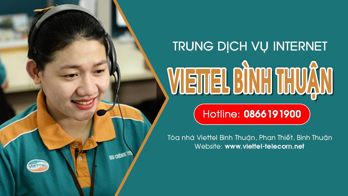 Viettel Bình Thuận - Trung tâm đăng ký lắp mạng Internet và Truyền hình ViettelTV