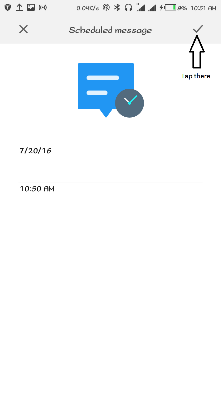 Schedule a text message, Send Delayed Text Message On Android