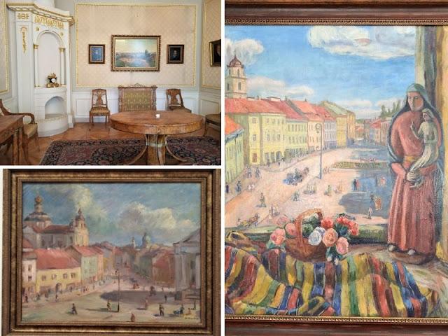 alcune opere esposte nel palazzo chidkiewicz