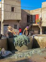 Tenerías; Curtiduría; Tannerie; Barrio de los curtidores; Marrakech; مراكش; ⴰⵎⵓⵔⴰⴽⵓⵛ; Marruecos; Morocco; Maroc; المغرب