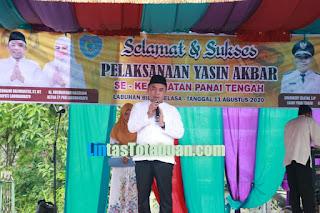 Dihadiri Bupati, Pelaksanaan Yasin Akbar Se- Kabupaten Labuhanbatu Sukses Digelar