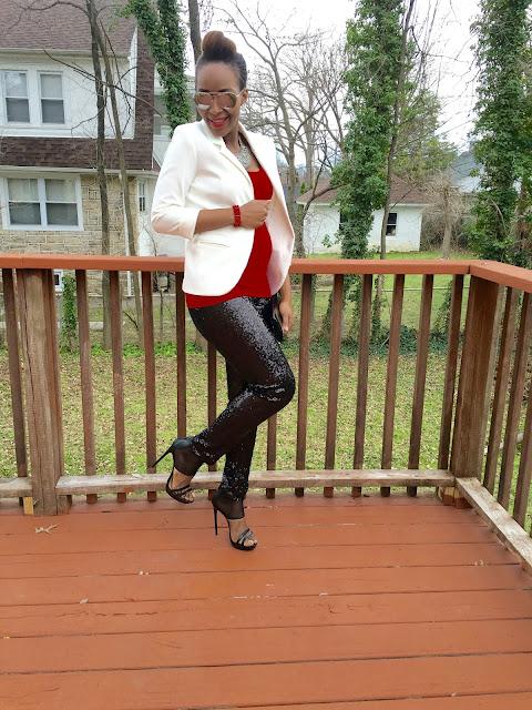 My Style Oasis, DIY Sequin Leggings, McCalls Stitch n' Save 9140, Leggings Tutorial