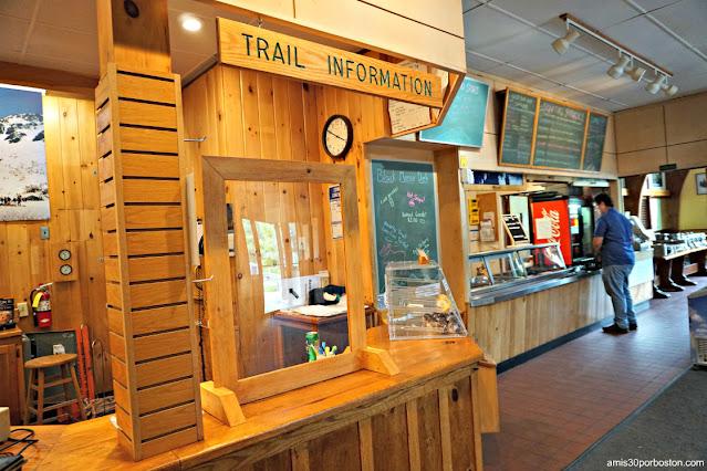 Cafetería en el Pinkham Notch Visitor Center (AMC), Appalachian Mountain Club