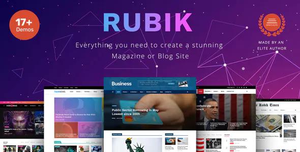 Rubik v1.2 - Một chủ đề hoàn hảo cho trang web Tạp chí Blog