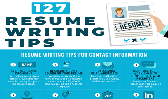 127 TIPS WRITING RESUMENTS #INFOGRAPHIC