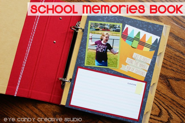 teacher appreciation gift ideas, memory book, school, photos album
