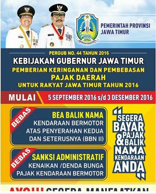 Kabar Gembira Pembebasan Pajak RANMOR Jawa Timur
