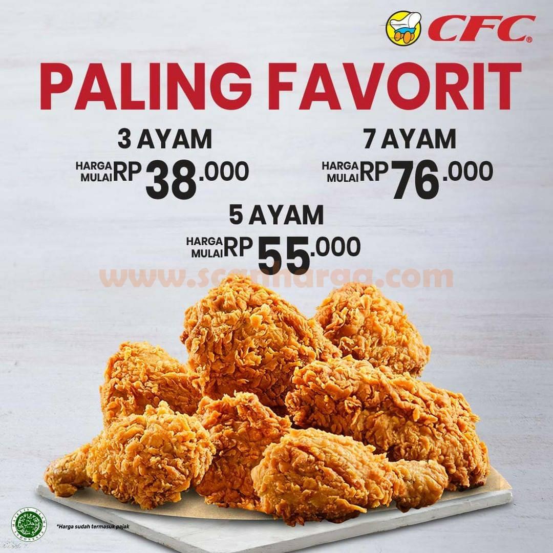 CFC Promo Paket 3, 5, dan 7 Ayam harga mulai dari Rp. 38.000 nett