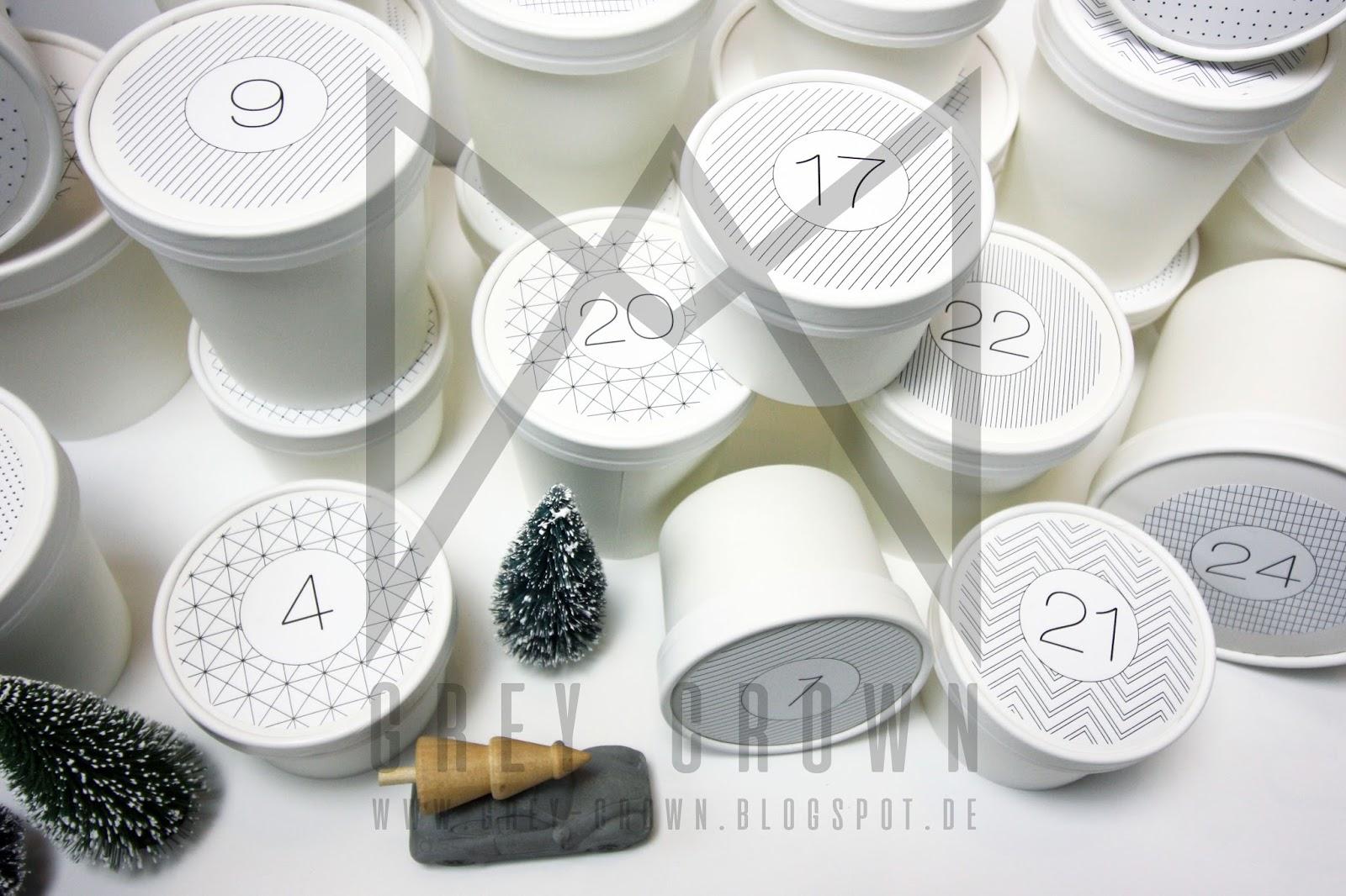 grey crown adventskalender mit gutscheinen. Black Bedroom Furniture Sets. Home Design Ideas