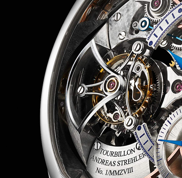 Andreas Strehler Trans-axial Remontoir Tourbillon detail of the tourbillon