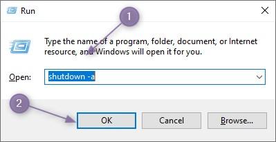 Cara Membatalkan Perintah Shutdown Otomatis