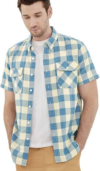 Best Men's Short Sleeve Plaid Flannel Shirts