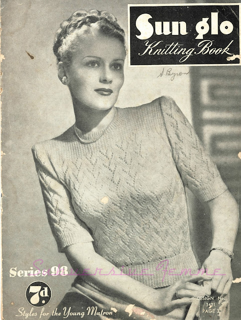 The Vintage Pattern Files : Free 1940's Knitting Pattern - Fifth Avenue Jumper Styles for the Young Matron