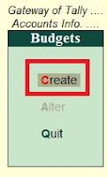 How to Create Budget in Tally in Hindi (टैली में बजट कैसे बनाये)