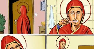 Μήνυση και κατακραυγή για σκίτσο που χλευάζει την Παναγία, παραμονές του Δεκαπενταύγουστου