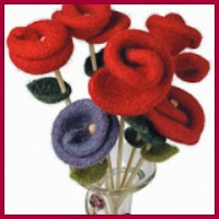 Rosa de lana afieltrada