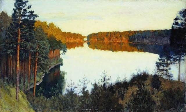 Исаак Ильич Левитан - Лесное озеро. 1890-е