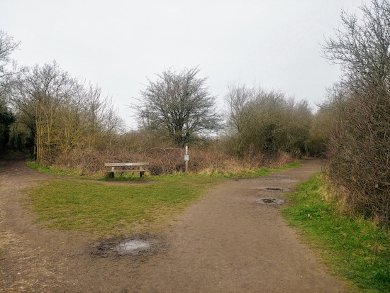 The right-hand fork, St Stephen footpath 26, mentioned in point 3 above