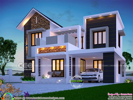 1626 square feet awesome Kerala modern home