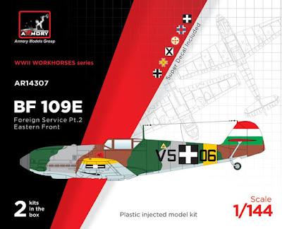 "AR14307 - 1/144 Messerschmitt Bf 109E ""Foreign Service Aces"", Pt.2 picture 1"