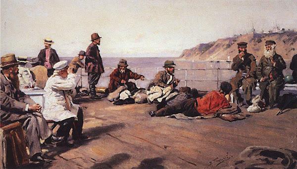 Маковский Владимир Егорович - На пароходе по Днепру. 1920