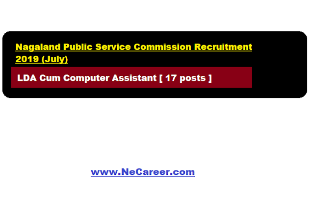 Nagaland Public Service Commission Recruitment 2019 (July)