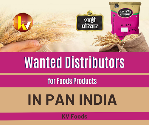 Wanted Distributors, Super Stockist for Food Products in Pan India