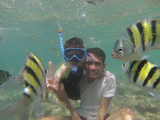 Foto underwater pulau sirandah